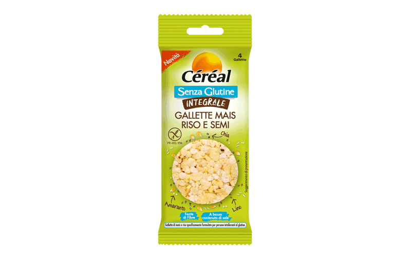 Cereal Gallette Mais Riso e Semi